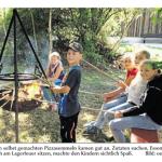 Ferienprogramm der Dorfgemeinschaft Viehberg - Bericht in der Amberger Zeitung
