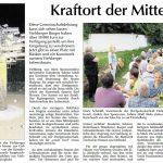 Artikel in der Amberger Zeitung vom 4. August 2016