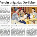 Jahreshauptversammlung der Dorfgemeinschaft Viehberg - Bericht in der Amberger Zeitung