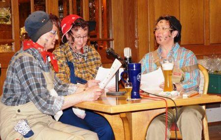 Bestens aufgelegt: Marianne, Maria und Edith.