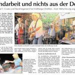 Handarbeit und nichts aus der Dose - Daniel T. Coates beim Viehberger Dorffest 2013