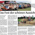 Dorffest in Viehberg - Bericht in der Amberger Zeitung vom 29.08.0215