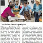 Maifest in Viehberg - Pressebericht