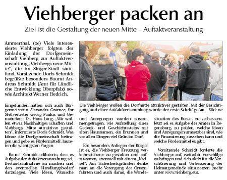 Artikel in der Amberger Zeitung vom 07.11.2012