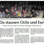 Artikel in der Amberger Zeitung