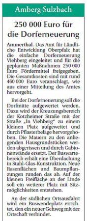 250.000 Euro für die Dorferneuerung