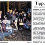 Waldweihnacht in Viehberg - Bericht in der Amberger Zeitung