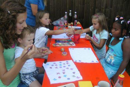 Die Kinder waren mit Eifer bei der Sache und zeigten teilweise künstlerische Fähigkeiten