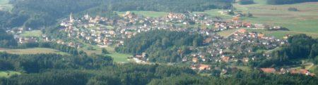 Viehberg heute: Unsere Gemeinde Ammerthal, im Vordergrund der Ortsteil Viehberg