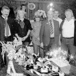 Kleines Feuerwerk für die Gründer der Dorfgemeinschaft Viehberg