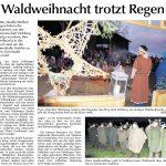Waldweihnacht trotzt Regen - Bericht in der Amberger Zeitung vom 13.12.2016