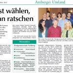 Jahreshauptversammlung 2017 - Bericht in der Amberger Zeitung vom 23.03.2017