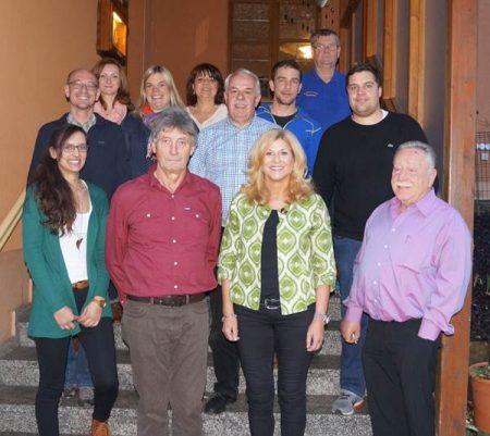 Die Vorstandschaft der Dorfgemeinschaft Viehberg im Jahr 2017