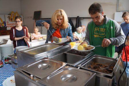 Ob Reh oder Wildschwein – die Gerichte kamen sehr gut an!