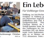Viele Viehberger bei der Einweisung in Defi-Handhabung - Bericht in der Amberger Zeitung