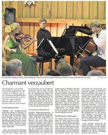 Klassikabend beim Dorffest der Dorfgemeinschaft Viehberg – Bericht in der Amberger Zeitung
