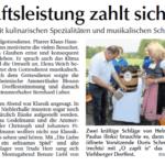 Bericht vom Dorffest der Dorfgemeinschaft Viehberg in der Amberger Zeitung