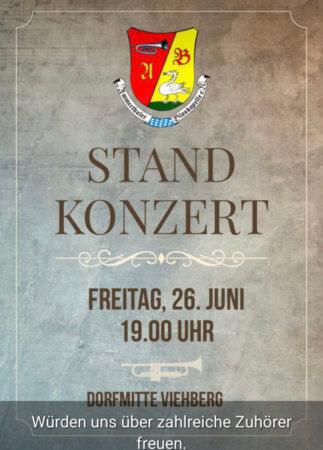 Einladung zum Standkonzert in Viehberg